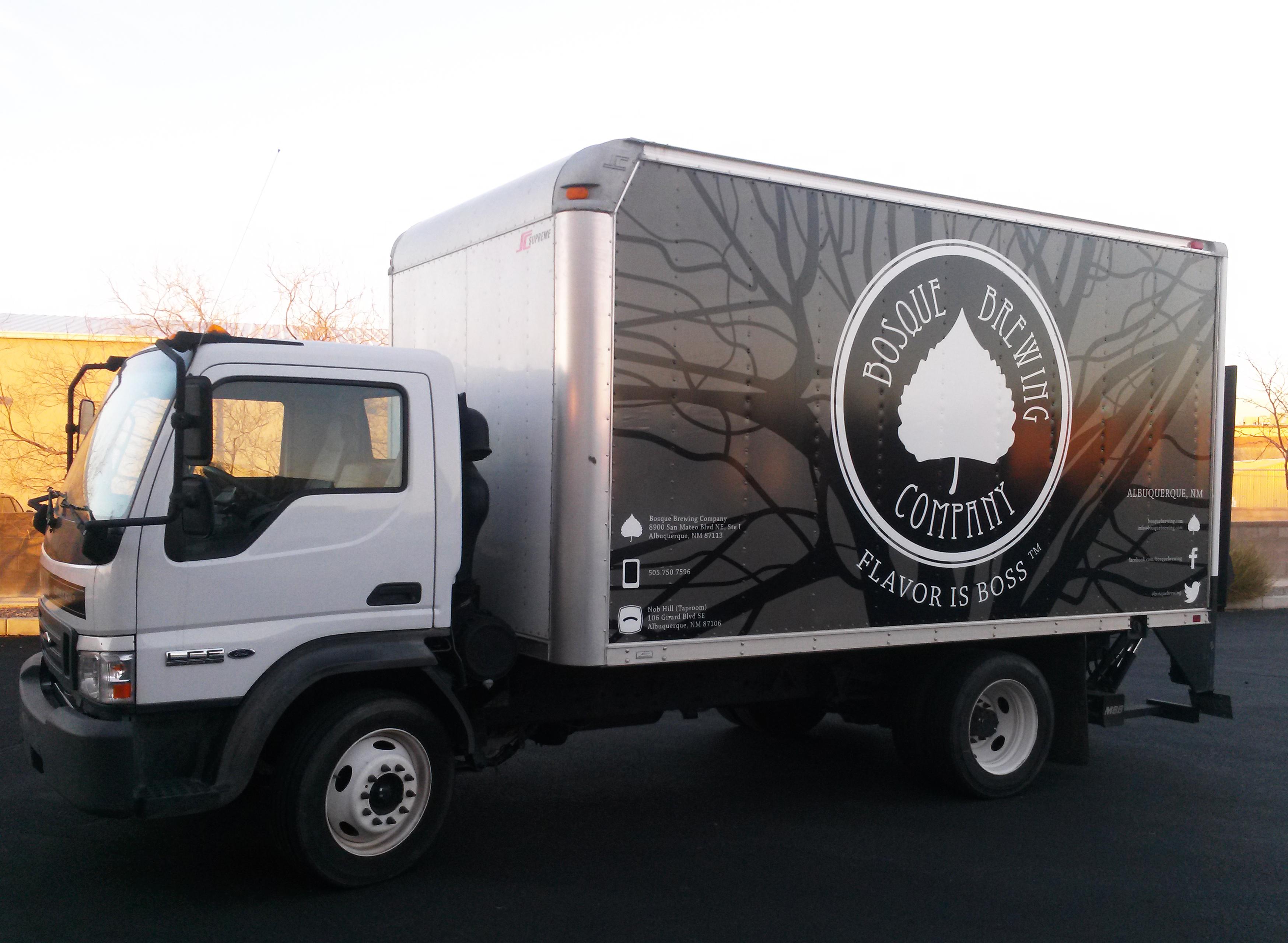 Bosque Brewing Company Box Truck Wrap